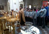 Церковне благословення дитячої футбольної команди на участь у всеукраїнських змаганнях