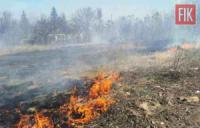 На Кіровоградщині загасили пожежу сухої минулорічної рослинності