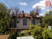 На Кіровоградщині вогнеборцями ліквідовано пожежу житлового будинку