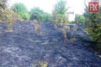 На Кіровоградщині рятувальникам довелося двічі приборкували пожежі сухої трави