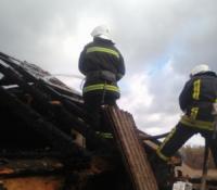На Кіровоградщині пожежна команда приборкали пожежу житлового будинку
