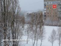 Кропивницький засипало снігом. Фото.