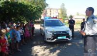 На Кіровоградщині поліцейські провели практикум «Діти і дороги»