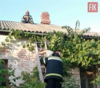 На Кіровоградщині жінка не могла спуститься з даху власного будинку