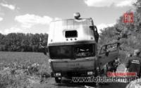 На Кіровоградщині і ліквідували пожежу вантажівки