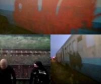 Одеські залізничники закликають Нацполіцію суворо покарати вандалів,  які розмалювали пасажирські вагони на Херсонщині