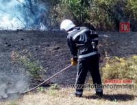 На Кіровоградщині рятувальники чотири рази долали пожежі на відкритих територіях