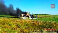 На Кіровоградщині горів трактор К-700