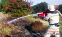 На Кіровоградщині вогнеборці приборкали 7 загорянь рослинності та сміття