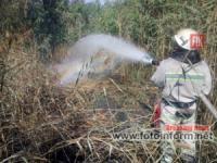 На Кіровоградщині вогнеборці ліквідували 13 пожеж на відкритих територіях