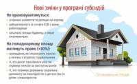 7 основних змін у програмі житлових субсидій