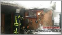 На Кіровоградщині вогнеборцями приборкано пожежу у господарчій споруді
