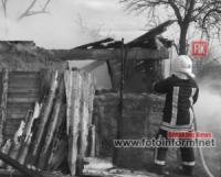 У житловому секторі вогнеборці Кіровоградщини подолали 6 займань