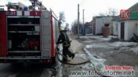 На Кіровоградщині загасили пожежу гаража