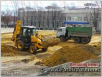 У Кропивницькому біля школи на спортмайданчику розпочали будівництво
