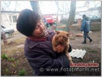 На Кіровоградщині рятувальники визволили кота та собаку