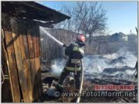 На Кіровоградщині загасили 4 пожежі у житловому секторі