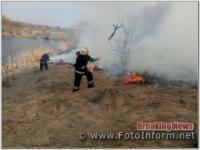 На Кіровоградщині приборкано 15 займань на відкритих територіях