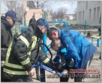 На Кіровоградщині рятувальники визволили першокласника,  який застряг у спортивному тренажері