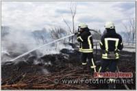 За добу на Кіровоградщині виникло 6 займань на відкритих територіях