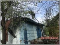 На Кіровоградщині за добу вогнеборці подолали 5 займань у житловому секторі