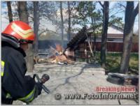 На Кіровоградщині вогнеборці ліквідували три пожежі