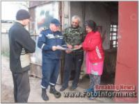 На Кіровоградщині рятувальники провели інформаційно-роз'яснювальну роботу