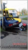 ДТП у Кропивницькому: на Новомиколаївці зіткнулися дві автівки