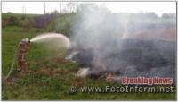 За добу на Кіровоградщині виникло три займання на відкритих територіях