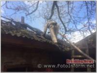 На Кіровоградщині вогнеборці ліквідували займання у житловому секторі