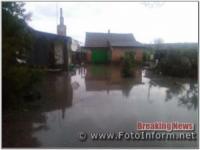 На Кіровоградщині рятувальники двічі залучались на відкачку води