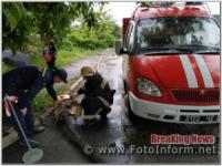 На Кіровоградщині після негоди з приватних домоволодінь відкачували дощову воду