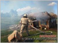 На Кіровоградщині приборкали 2 пожежі в житловому секторі