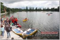 У Кропивницькому рятувальники забезпечували безпеку учасників греблі на каяках