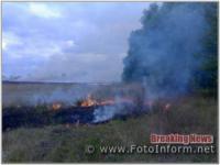 На Кіровоградщині за добу,  що минула,  вогнеборці здолали 4 пожежі