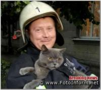 На Кіровоградщині рятувальники тричі приходили на допомогу чотирилапим друзям