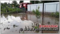 На Кіровоградщині внаслідок сильного дощу сталося підтоплення 20 присадибних ділянок