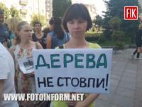 У Кропивницькому біля міськради проходить мітинг