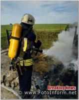 На Кіровоградщині на відкритій території загорівся легковик