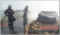 На Кіровоградщині авто перетворилося на факел