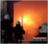 У Кропивницькому на території гаражного кооперативу загорівся автомобіль