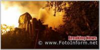 Кіровоградщина: на пожежі травмувалась людина