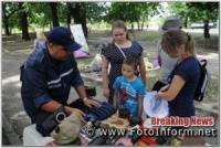 У Кропивницькому на фестиваль вуличної їжі завітали рятувальникки