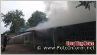 Кропивницький: у мікрорайоні «Шкільний» загорівся гараж