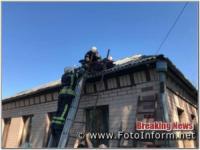 На Кіровоградщині чоловік упав на дах будинку