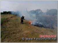Впродовж минулої доби на відкритих територіях Кіровоградщини загасили 2 пожежі