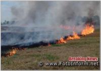 На Кіровоградщині виникло 5 пожеж різного характеру