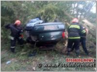 На Кіровоградщині у ДТП перекинувся автомобіль