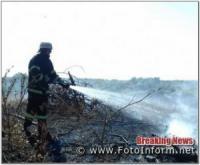 На Кіровоградщині виникло 9 пожеж