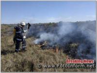 На Кіровоградщині виникло 15 пожеж різного характеру